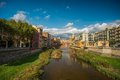 Beautiful city Girona Royalty Free Stock Photo