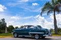 A beautiful classic car in cuba Royalty Free Stock Photo