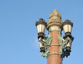 Beautiful classic lantern in belgian city verviers in wallon Royalty Free Stock Photos