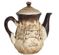 Beautiful clay teapot Royalty Free Stock Photo