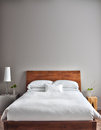 Beautiful Clean and Modern Bedroom Royalty Free Stock Photo