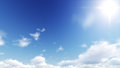 Beautiful clear skies during the day, the clouds are good. Royalty Free Stock Photo