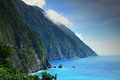 Beautiful cliff in hualien taiwan Stock Photo