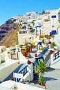 Beautiful clifftop resort hotels Santorini Greece Royalty Free Stock Photo