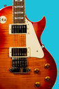Beautiful closeup of electric guitar Royalty Free Stock Photo