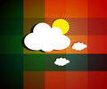 Beautiful cloud images on bright sunny day background with texture vector illustration Stock Image