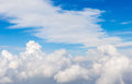 Beautiful cloudscape, on the heaven view over white fluffy cloud Royalty Free Stock Photo
