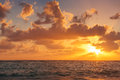 Beautiful cloudscape over the caribbean sea Royalty Free Stock Photo
