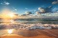 Beautiful cloudscape over the sea sunrise shot Royalty Free Stock Photos