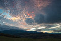 Beautiful cloudy sky at sunset colorful Royalty Free Stock Photography