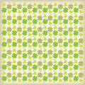 Beautiful clover background with hearts Stock Photo