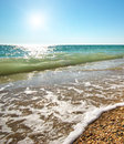 Beautiful coast of beach at day Royalty Free Stock Image