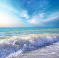 Beautiful coast of beach at day. Nature composition. Royalty Free Stock Photo