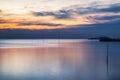 Beautiful coast sea tranquil at twilight