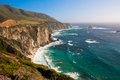 Beautiful coastline along the pacific in big sur california Royalty Free Stock Photography