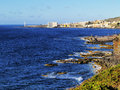 Beautiful coastline bajamar tenerife canary islands spain Royalty Free Stock Photography