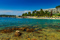 Beautiful coastline and beach,Rovinj,Istria region,Croatia,Europe Royalty Free Stock Photo