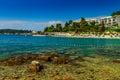 Beautiful coastline and beach,Rovinj,Istria region,Croatia,Europe Royalty Free Stock Photo