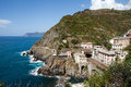 Beautiful coastline in Cinque beautiful coastline in Cinque Terre, Royalty Free Stock Images