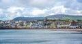 Beautiful coastline with the seaside town of Peel, Isle of Man