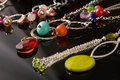 Beautiful collection of jewelery Stock Photo