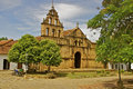 Beautiful colonial church, Guane, Colombia Royalty Free Stock Images