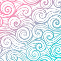 Beautiful color abstract vintage wave pattern Royalty Free Stock Image
