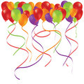 Beautiful color balloon in the air. Stock Photo