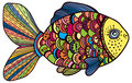 Beautiful color fish illustration cartoon Royalty Free Stock Photo