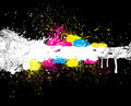 Beautiful Color Paint Splashes Royalty Free Stock Images