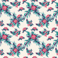 Beautiful colored abstract flowers on a light background tender seamless pattern Royalty Free Stock Photo