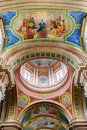 Beautiful colored dome of the basilica Royalty Free Stock Photo