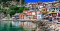 Beautiful colorful coastal town Parga in Greece ,Epirus Royalty Free Stock Photo