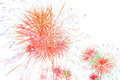 Beautiful colorful firework isolated display for celebration hap on white background happy time Royalty Free Stock Photography