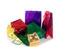Beautiful colorful gifts holiday holidays card Royalty Free Stock Image