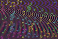 Beautiful colorful Music notes background