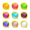 Beautiful colorful round buttons Royalty Free Stock Photo