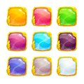 Beautiful colorful square buttons Royalty Free Stock Photo