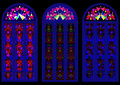 Beautiful colorful stained glass windows three Royalty Free Stock Images
