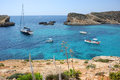 Beautiful Comino island, Malta. Royalty Free Stock Photo
