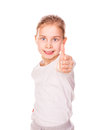Beautiful and confident girl showing thumbs up Royalty Free Stock Photography