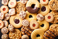 Beautiful cookies assorted close-up. background horizontal top v