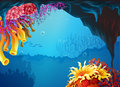 Beautiful coral reefs illustration of the Stock Photo