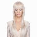 Beautiful cosmic girl with blue eyelashes Royalty Free Stock Photo