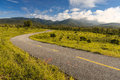 Beautiful countryside road under blue sky chiang mai thailand Royalty Free Stock Images