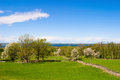 Beautiful countryside spring landscape view Royalty Free Stock Image