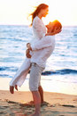 Beautiful couple at the beach Stock Photography