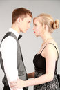 Beautiful couple in formalwear attractive dressed up going to a dance or wedding Royalty Free Stock Photography
