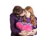 Beautiful couple with heart Royalty Free Stock Photos