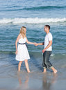 Beautiful couple walking together Royalty Free Stock Image